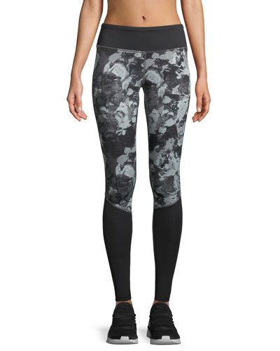 Pulse Printed Full-Length Performance Tights