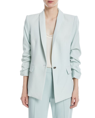 Sebastian Shawl-Collar One-Button Blazer