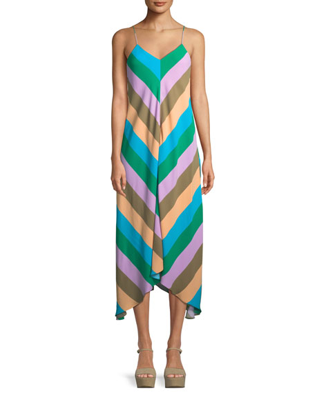 Julian Striped Slip Dress