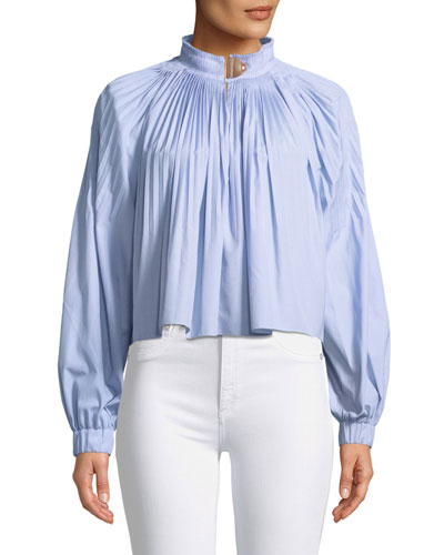 Isabelle Shirting Long-Sleeve Blouse