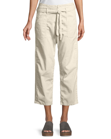 The Convertible Cotton Crop Trousers
