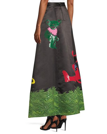 Sequined-Bear A-Line Ball Gown Skirt