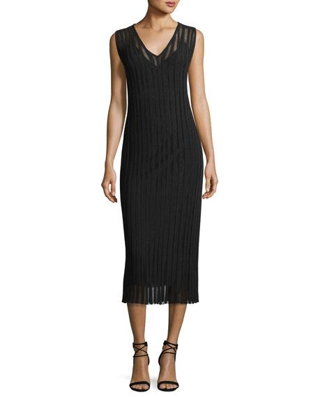 Stripe Illusion Sleeveless Dress