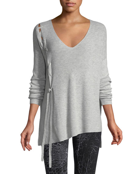 Vimmia SHAVASANA LACE-UP LONG-SLEEVE SWEATER