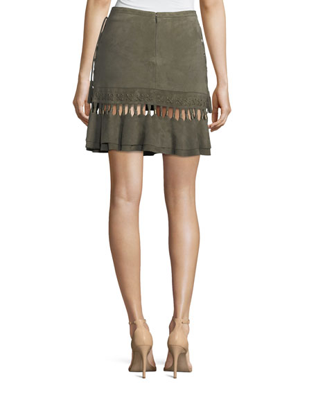Crossfire A-Line Suede Mini Skirt
