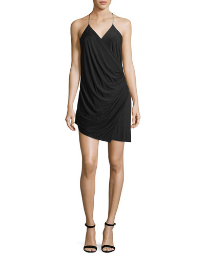 Sidewinder Cowl Jersey Mini Dress
