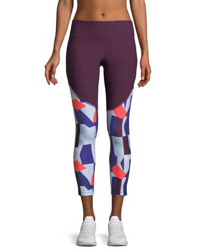 Balance Novelty Printed Cropped Performance Leggings