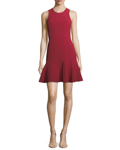 Rooney Paneled Fit-and-Flare Dress