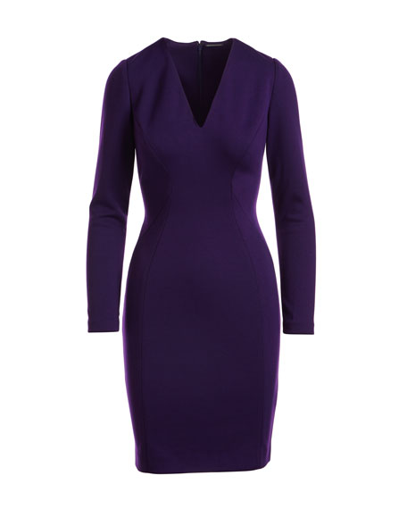 Prisha V-Neck Long-Sleeve Dress