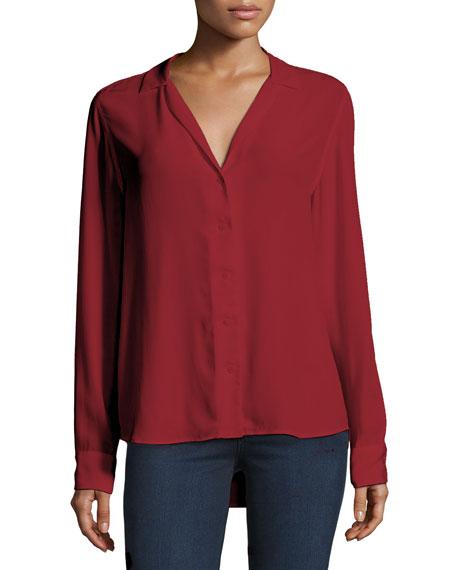 2f6919d49 Adalyn Silk Long-Sleeve Blouse Red Nouveau