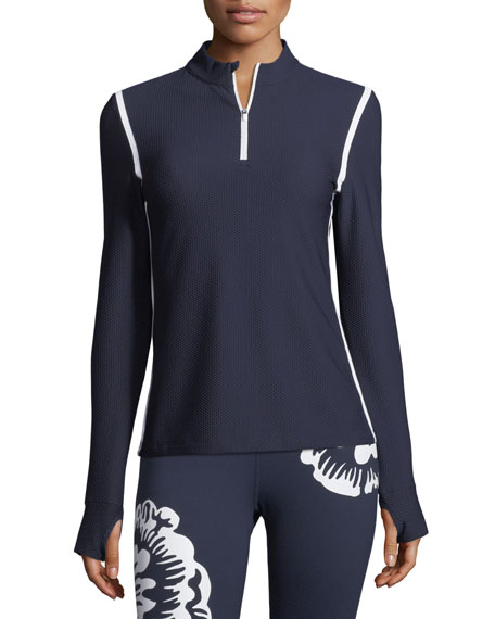 Tory Sport Tops HIGH-VISIBILITY QUARTER-ZIP PULLOVER