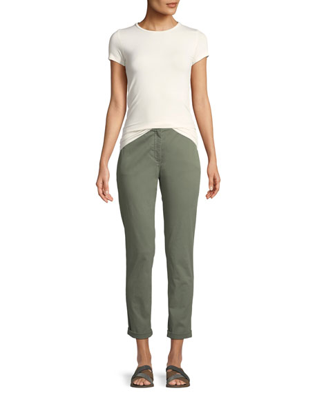 Boyfriend Casual Twill Pants