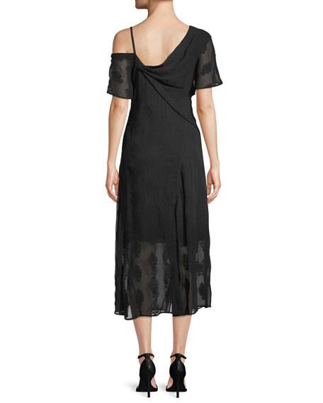 Coastal Silk-Blend Asymmetric Dress