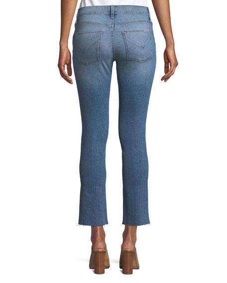 Nico M.R Straight-Leg Ankle Jeans w/ Front Slit