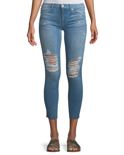 Tally Mid-Rise Skinny-Leg Crop Jeans