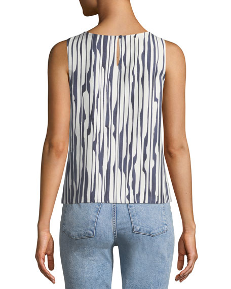 Mintorey Broken-Stripe Twill Tank Top