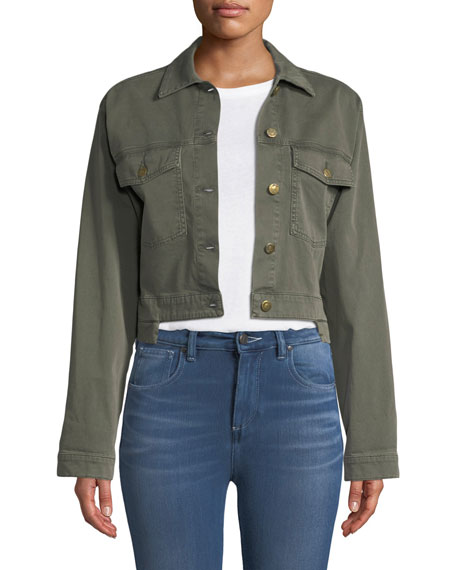 Georgia Logan Step-Hem Jacket in Green