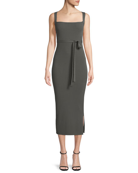 Sleeveless Midi Dress w/ Cross Back