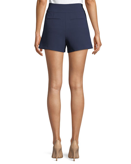 Donald High-Waist Side-Button Woven Shorts