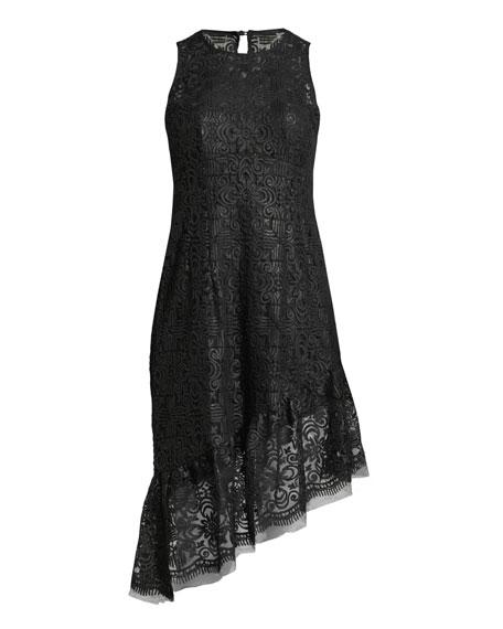 Mata Hari Asymmetric Sequined Dress