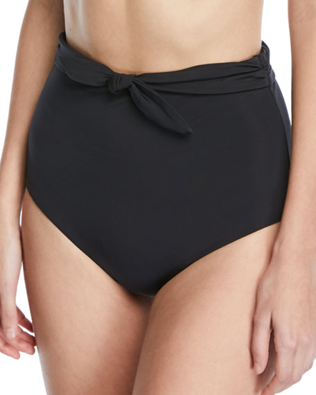 Mara Hoffman Jay High-Waist Tie-Front Swim Bikini Bottoms