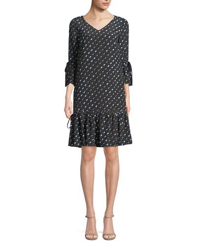 Ana-Grace Gliding Geo Drop-Waist Dress