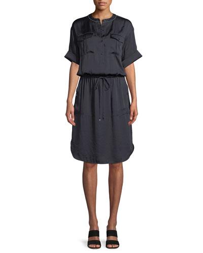Benson Luminous Cloth Shirt Dress