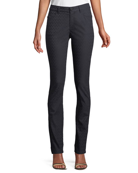 Thompson Curvy Micro-Pyramid Jeans in Ink