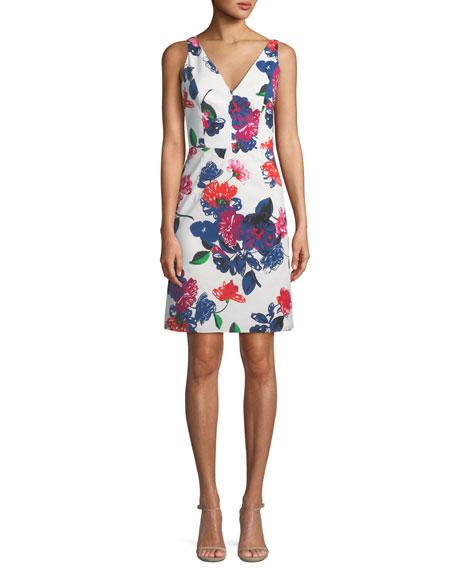 Sandrine Floral-Print Mini Dress