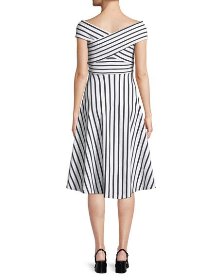 Jill Striped Off-the-Shoulder Dress