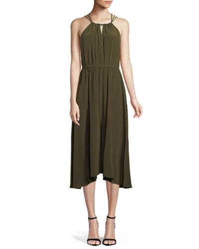 Mykonos Cross-Back Halter Dress