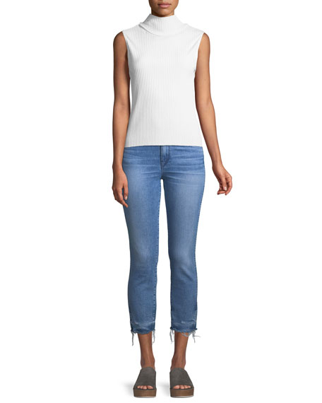 W3 Authentic Straight-Leg Crop Jeans
