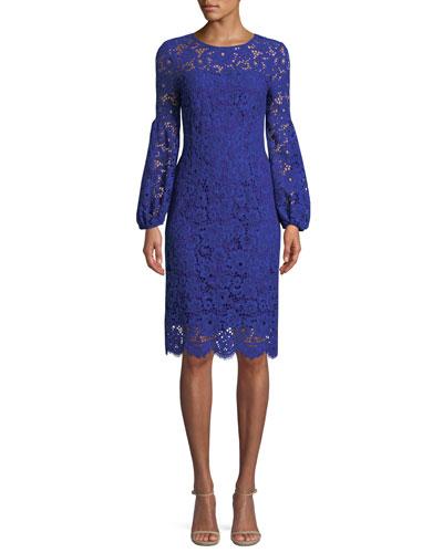 Shayla Floral-Lace Sheath Dress