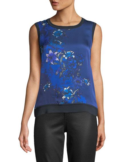 Pauletta Floral-Print Silk Blouse