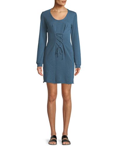 Corset Long-Sleeve Mini Dress