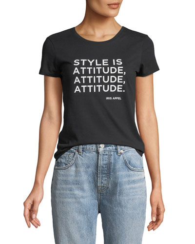 Style is Attitude Short-Sleeve Crewneck Tee