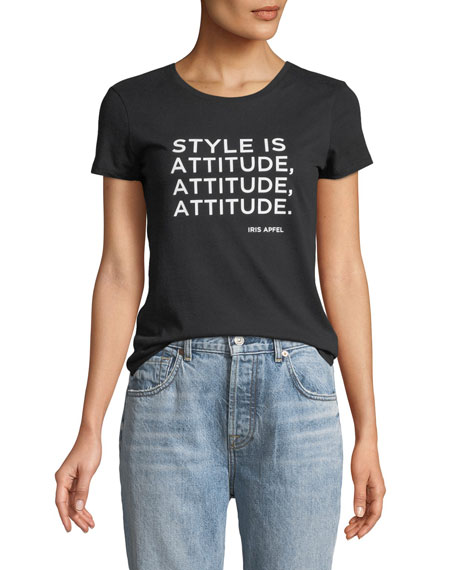 Style is Attitude Short-Sleeve Crewneck Tee