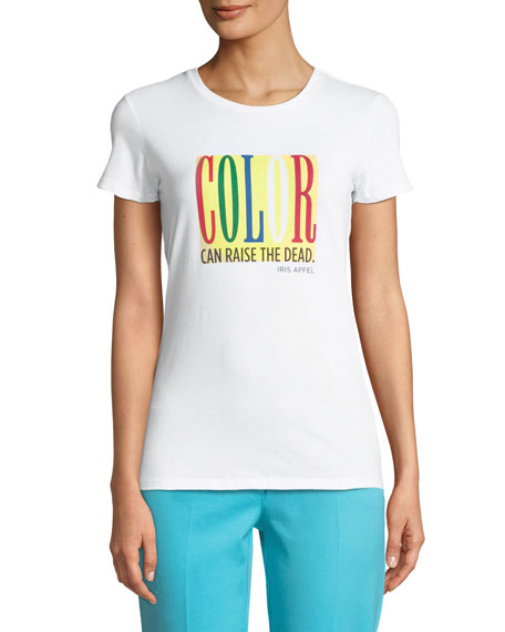 Color Can Raise The Dead Crewneck Short-Sleeve Cotton Tee
