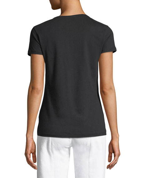 Crewneck Short-Sleeve Deluxe Cotton Tee