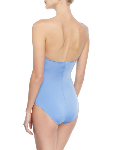 Twist-Front Solid One-Piece Swimsuit
