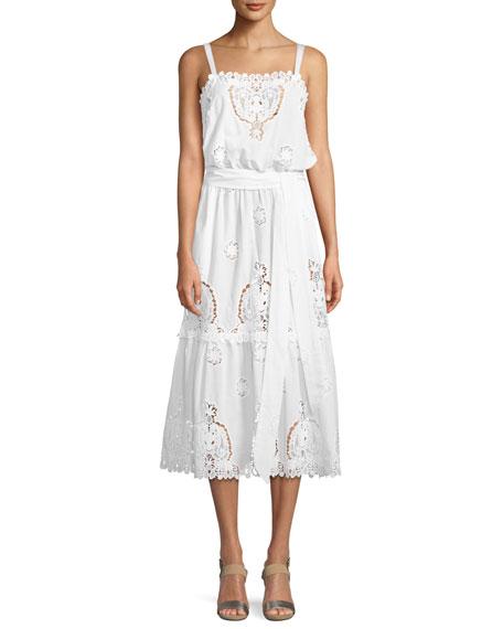 Esme Versailles Eyelet Midi Dress
