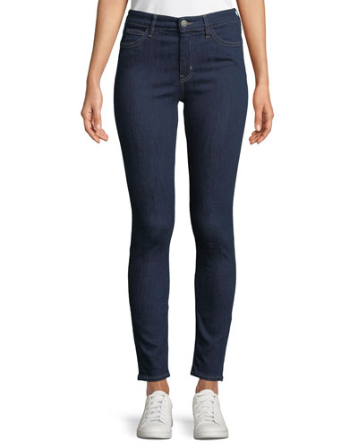 Bridge High-Rise Skinny-Leg Ankle Jeans