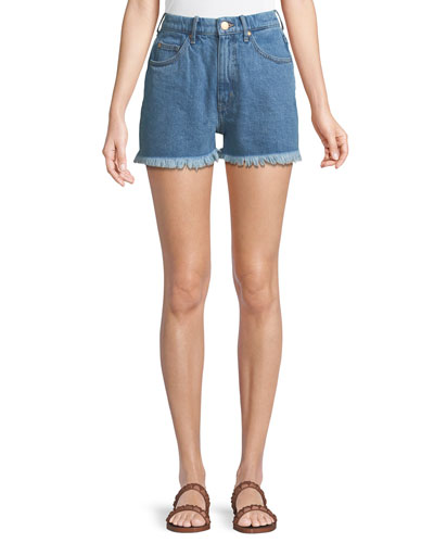 Halsy High-Rise Cutoff Denim Shorts