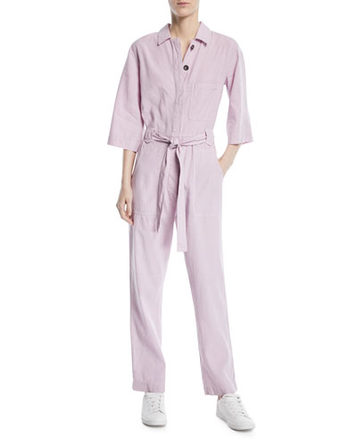 Montara Linen/Cotton Coverall Jumpsuit