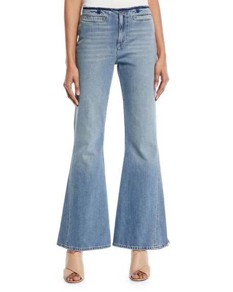M.i.h Jeans MARRAKECH RAW-EDGE FLARE JEANS