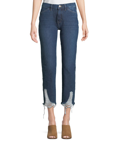MiH Cult Mid-Rise Four-Pocket Straight-Leg Jeans