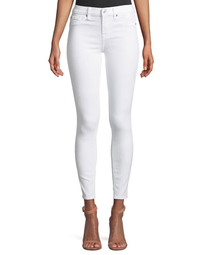 B(Air) Mid-Rise Ankle Skinny Jeans with Faux Front Pockets