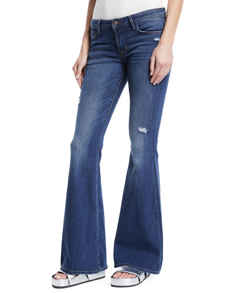 Mia Low-Rise Flared-Leg Jeans
