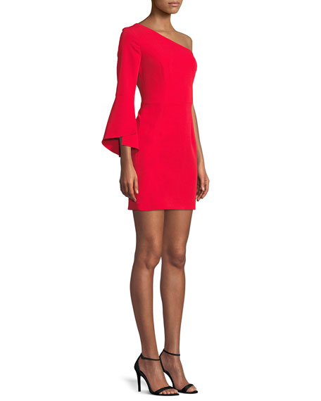 Sandrine One-Sleeve Sheath Dress