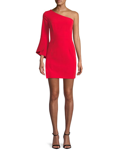 Sandrine One-Sleeve Sheath Dress